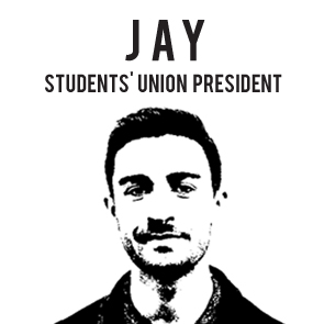 Image of Jay, newly elected president of the Student Union