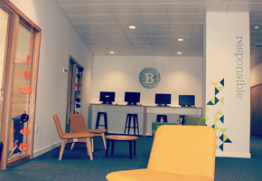 Image 1 of 2 of the new Student Union office blocks at City Campus
